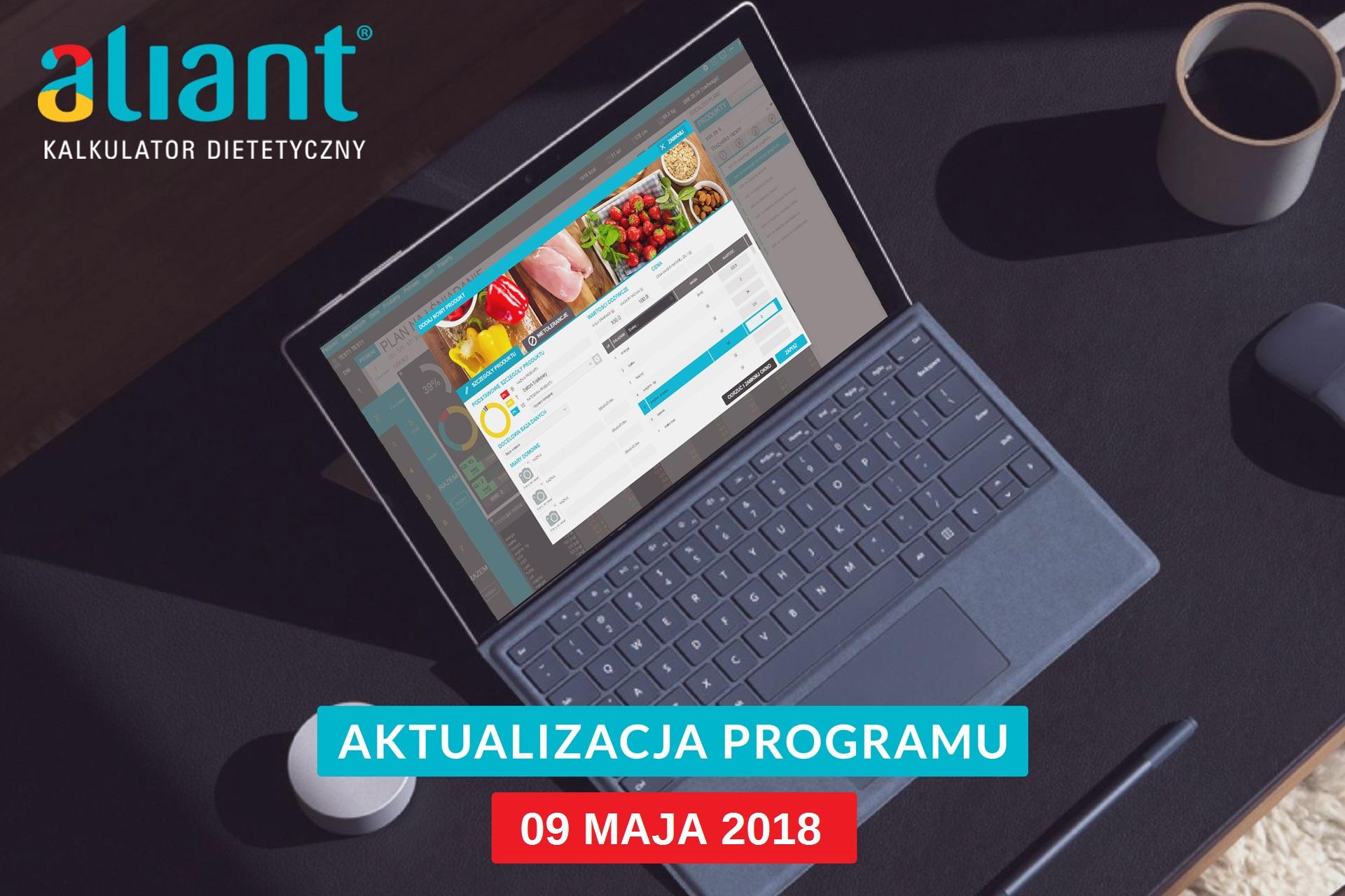 Aktualizacja programu Aliant 09.05.2018