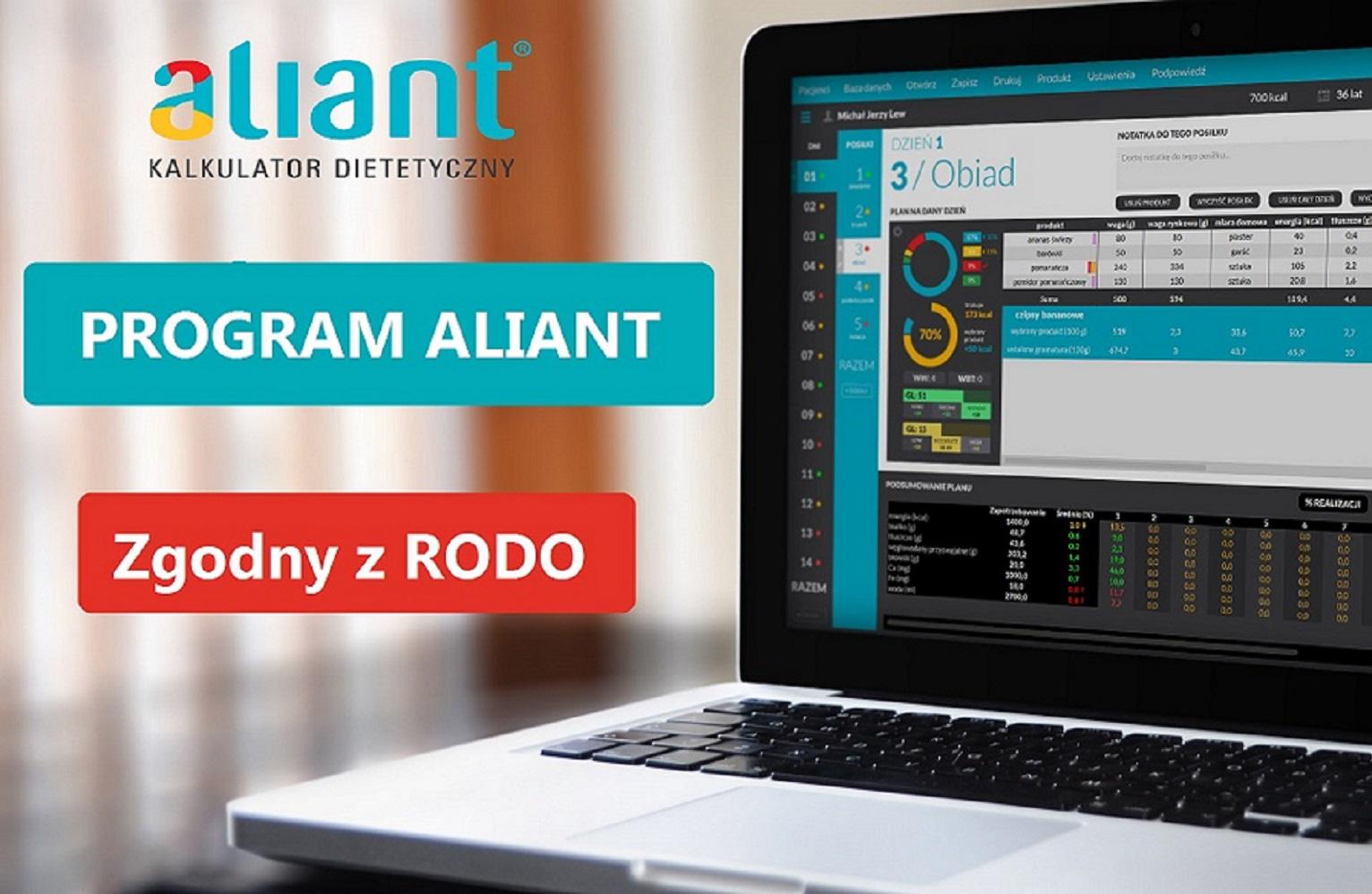 Program Aliant – od dziś zgodny z RODO – aktualizacja programu 14.06.2018