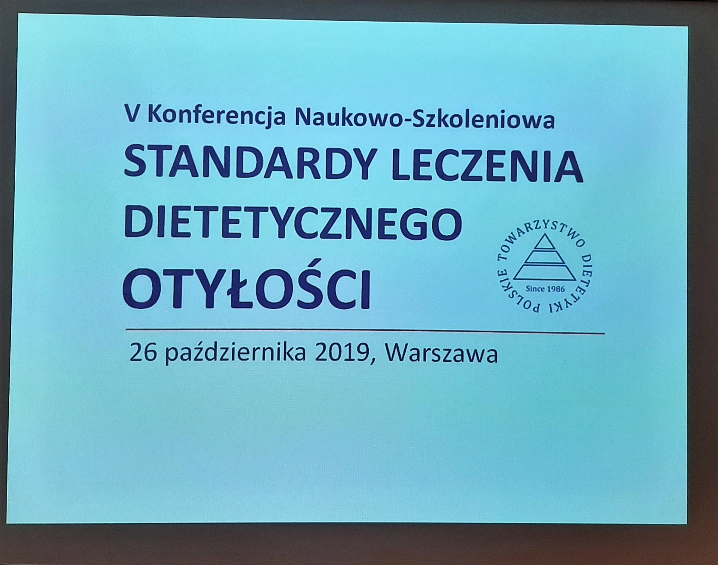 Otyłość pod lupą – relacja z konferencji Standardy Leczenia Dietetycznego 2019