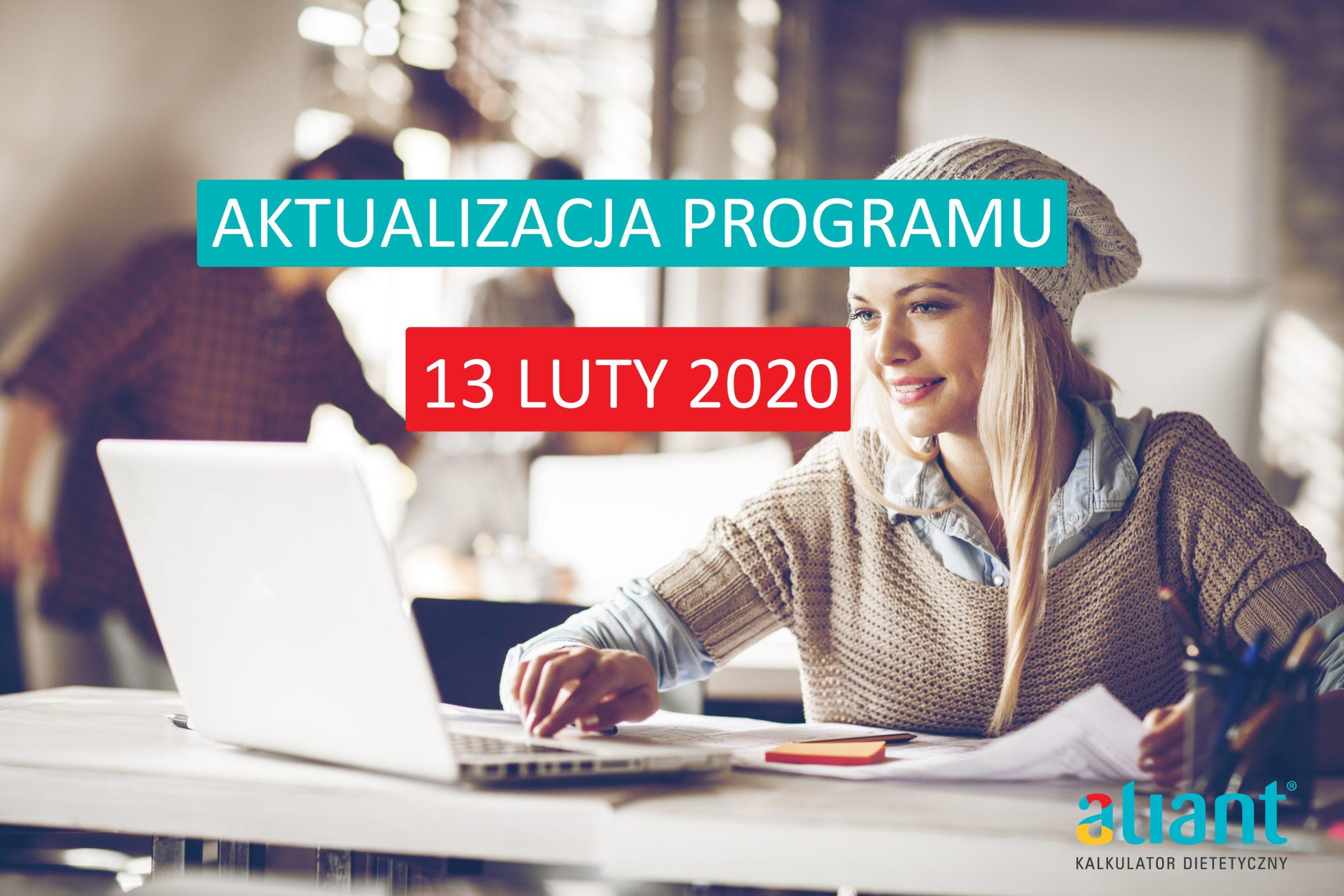 Aktualizacja programu Aliant – 13.02.2020