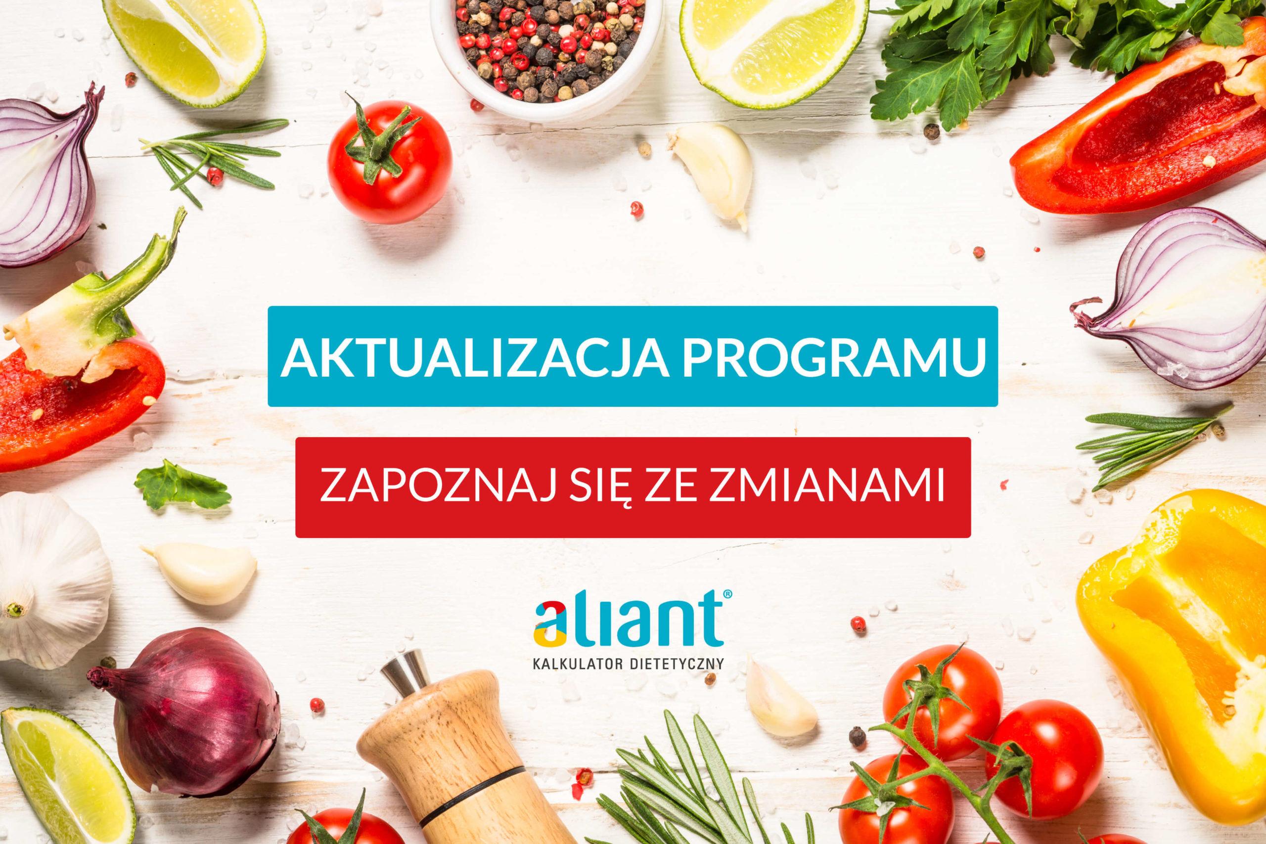 Aktualizacja programu dla dietetyków Aliant – 09.06.2021